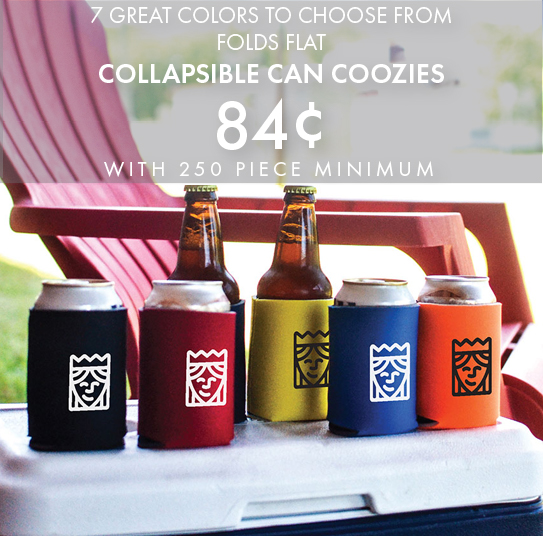 Custom Printed Collapsible Can Coozies